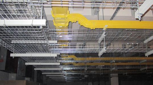 网格桥架安装后展示
